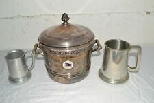 LOT: Vintage 1954 Pacific Coast CA Championship SAILING TROPHY Silver-On-Copper