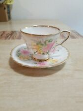 "Royal Stafford ""LILY"" Vintage Porcelain Tea Cup and Saucer Set EUC UHB30200"