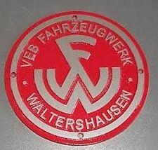 Traktor Multicar M21 Emblem Schild Tür Waltershausen neu rot