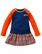 Oilily Druffe Dress Orange/Blue Check Skirt  - Size 4 Years (Euro Size 104)