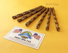 """Drill Hog USA 5/16"""" Cobalt Drill Bits M42 Drill Bit 6 Pack Lifetime Warranty"""