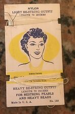Vintage Nylon Heavy Restringing Outfit For Restringing Pearls