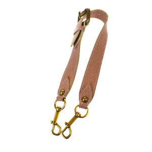 Authentic LOUIS VUITTON LV Shoulder Strap Leather Pink Gold Accessory 66MG162