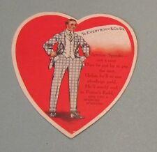 1920's Spencer Spender Valentine's Day Greeting Card Potter's Field Poem Vintage