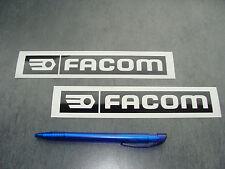 2x stickers Facom tools Noir 18cm Auto Moto decals pegatinas aufkleber A74-070