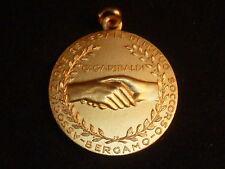 Vintage Rara Medalla 100 Años De associazone generale di Muto Soccorso Bergamo