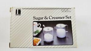 Vintage Tamus Clear ACRYLIC Sugar & Creamer Set # 4556