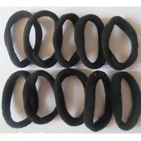 10pcs Girl's Black Elastic Hair Ties Band Rope Ponytail Bracelets Scrunchie