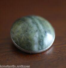 Vintage c1969 sterling silver broche pierre jade Grenade Irish Dublin cadeau solide