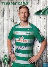 Florian Kainz (7) + Werder Bremen + Saison 2016/2017 + Autogrammkarte +