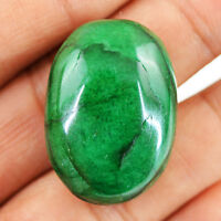 83.50 Cts Earth Mined Rich Green Emerald Oval Shape Loose Pendant Size Gemstone