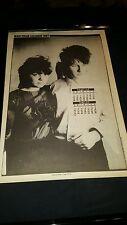U2 Bono And Wife Alison Rare 1982 U.K. Calendar Page Framed!