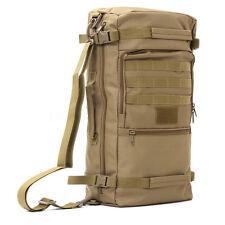 Brown Outdoor 50L Military Tactical Rucksack Backpack shoulder Hiking camp Bag