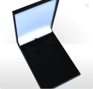 Black Necklace Box Leatherette Jewellery Pendant Jewelry Gift