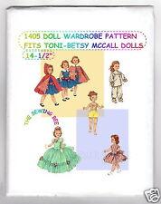 "Doll Pattern 14 1/2"" Wardrobe fits Toni Walker & Betsy McCall  1405"