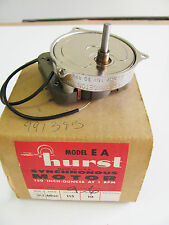 Hurst 991395 Geared, Synchronous Motor, 30 RPM, 10W, 115VAC, 2 Wire, Sleeve  NOS