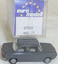 NSU TT Camión Antracita Imu / EUROMODELL 07002 H0 1/87 emb.orig # (LL1) å