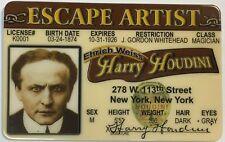 Harry Houdini - Escape Artist - Drivers License - Novelty