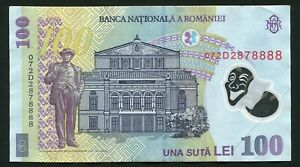 i620 Romania 100 lei 2005 * ( 2007 ) Lucky Fancy Serial Number 8888