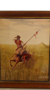 """ORIGINAL  LITHOGRAPH """"KOZAK"""" FROM AN OIL PAINTING SIGNED BY Z.W.BENGEL"""