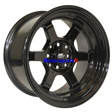 MST Wheels Time Attack Rims 15 x 8 +0 Black 4x4.5 85 Toyota Celica GTS GT 5MGE
