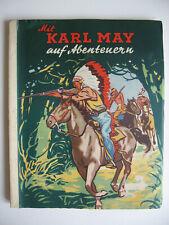 """Kiddy Sammelbilderalbum """"Mit Karl May auf Abenteuern"""", 1952, komplett"""