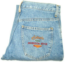 FABERGE VINTAGE WOMENS SZ 79L MEASURED W30 X L34 STRAIGHT BLUE JEANS FREE POST