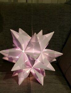 Stern Bascetta Stern mit LED Lichterkette XXL Stern Durchmesser 30 cm