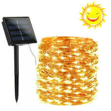 Solar powered led rope patio string fairy lights waterproof outdoor garden Decor