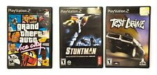 PS2 Lot of 3 Game Grand Theft Auto Vice City, Stuntman, Test Drive