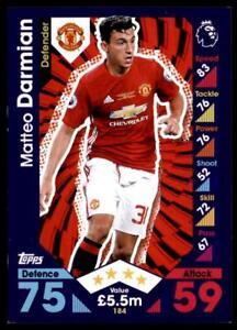 Match Attax 2016-2017 Matteo Darmian Manchester United Base card No. 184