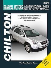 GMC Acadia, Buick Enclave, Saturn Outlook & Chevy Traverse Repair Manual 2007-13