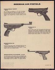 1983 BEEMAN Webley Tempest. HW 70, Beeman/Wischo S-20 Standard Air Pistol AD