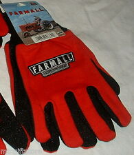 IH International Harvester Farmall Logo Red Jersey Work Gloves LARGE # 33050