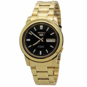Seiko 5 Automatic Gold-Tone Stainless Steel Men's Watch SNKK22K1