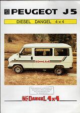 Peugeot J5 Diesel 4x4 Dangel 1983 UK Market Foldout Brochure Talbot Express