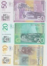 More details for six serbia & croatia banknotes 2001 to 2014 banknotes in near mint condition