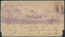 "#65 BOWLING GREEN, IND CDS FULL FRONT C.W. PATRIOTIC COVER ""BATTLE SCENE"" BS1191"