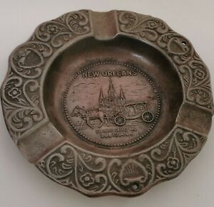 Vintage Metal New Orleans Ashtray- man/womancave