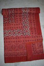Ajarak Quilt Handmade, Hand Block Printed Throw, Queen Size Kantha Throw 006