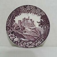 Enoch Woods Castles Wood & Sons England Purple Saucers Set of 12