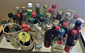 """38x Miniaturflaschen Schnaps /Likör"""" -leicht verdunstet-ungeöffnet"""