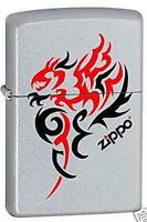 Zippo 1066 tribal dragon chrome DISCONTINUED - Rare Lighter