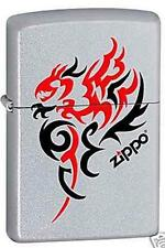 Zippo 1066 tribal dragon chrome DISCONTINUED - Rare Lighter
