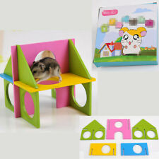 Hamster Toys Wooden Playground Playhouse Cage Exercise Toy Gym Pet Mou HLE