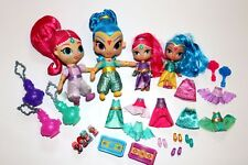 Lot of 33-Shimmer & Shine genie plush, magic dress click on clothes, blind bags