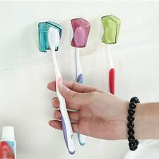 Toothbrush Holder Bathroom Wall Mount Suction Cup Toothbrush Cover Storage Rack