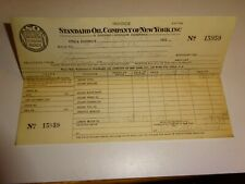 original 1933 Standard Oil Company of New York SOCONY Invoice Receipt 15959 Ethy