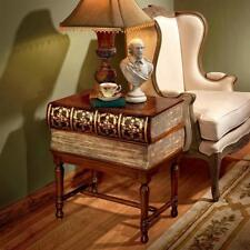 Literature Stack of Novels Book Wood Library Accent Side Table