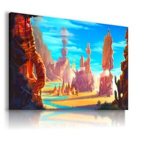 MOUNTAINS WORLD MODERN ABSTRACT ANIMAL CANVAS KIDS WALL ART PICTURE WS266 X
